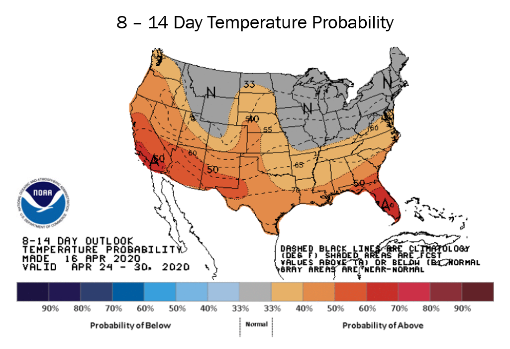 NOAA Weather Forecast North America 04.2020