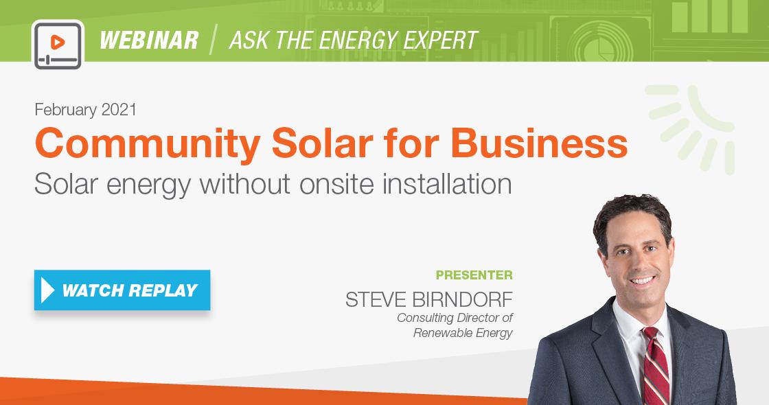 webinar community solar for business