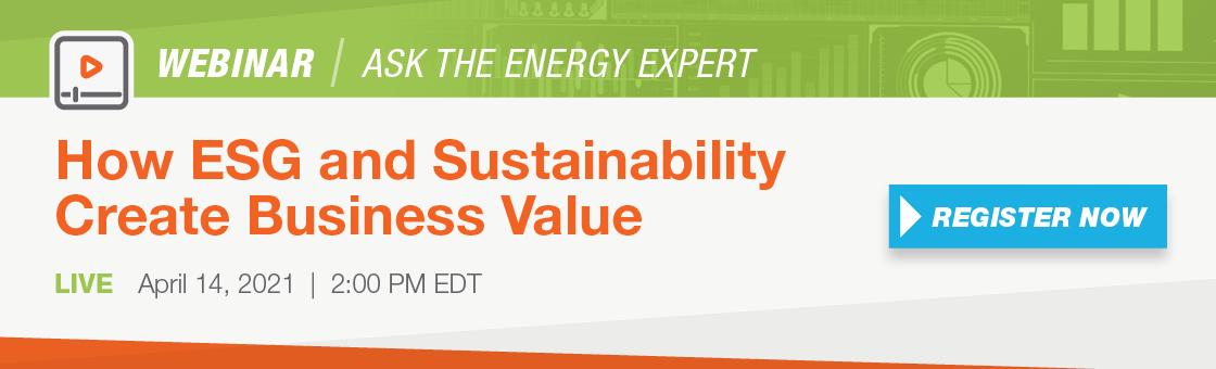 ESG and sustainability webinar Usource Energy Consultant